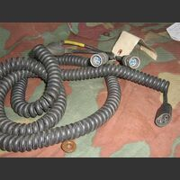 CX10766GR Cavo spiralato Microfono/cuffia  CX-10766/GRC Microfoni
