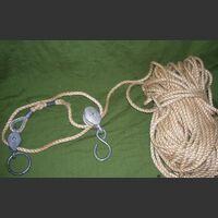 Corda-Carrucola Corda in treccia di canapa con carrucola Antenne - Accessori - Cavi