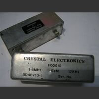 F00010 Cristal Electronic Filter FN 00010  1.4Khz Impedenze