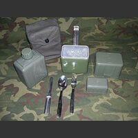 KITgavettaDE Kit Gavetta, Posate, Borraccia, Bicchiere Militaria
