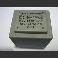 TREI30Y10 Trasformatore Alimentazione 12 Volt 2,8 VA Trasformatori e Filtri Rete