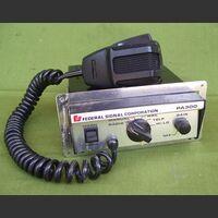 PA 300 Amplificatore audio con sirena americana Federal Signal Corporation PA 300 Apparati radio