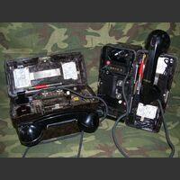 FF-OB/ZB COPPIA Telefoni da campo   FF-OB/ZB Tedeschi Apparati radio
