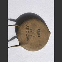 cod: 120p3500v Condensatore Ceramico 120 pF 3500 Volt Componenti elettronici