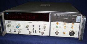 HP5345A+HP 5355A HP 5345A Electronic Counter + HP 5355A Frequenzimetri
