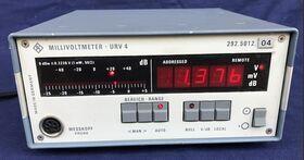 ROHDE & SCHWARZ URV4 Millivoltmeter ROHDE & SCHWARZ URV4 Strumenti