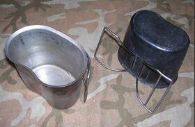 GavettaUS Gavetta per alimenti in acciaio Militaria