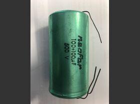 100+100m500v Condensatore Elettrolitico assiale 100 + 100 uF 500 Volt Componenti elettronici