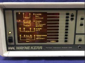 WK 3245 Precision Inductance Analyzer WAYNE KERR WK 3245 wit 3220 Strumenti