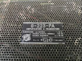 GELOSO G-223-PA Amplificatore a Transistor GELOSO G-223-PA Varie
