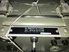 AL-RV4/213/M Alimentatore in AC per stazione radio RV4 AL-RV4/213/M Apparati radio